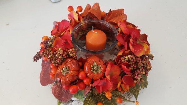 Tischkranz Orange