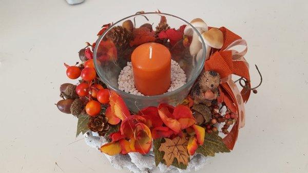 Tischkranz oranger Herbst