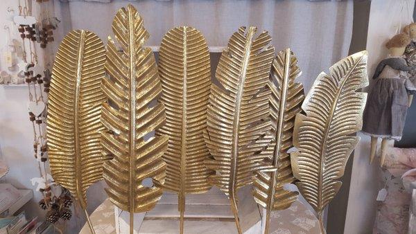 Metallwandbild Palmblätter